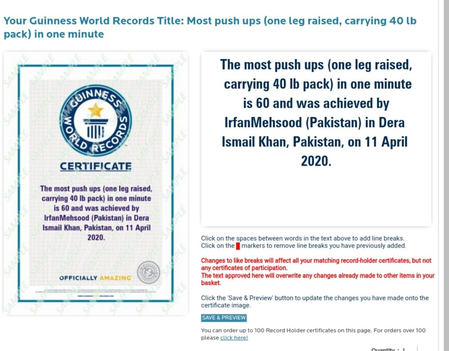 924 ML pakistani martial artist scores his 31st guinness world record 2 2l