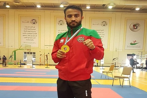 Saadi Abbas clinches gold medal in UAE Open Karate