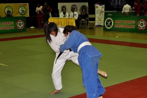 Army crown champion of National Men and Women Judo